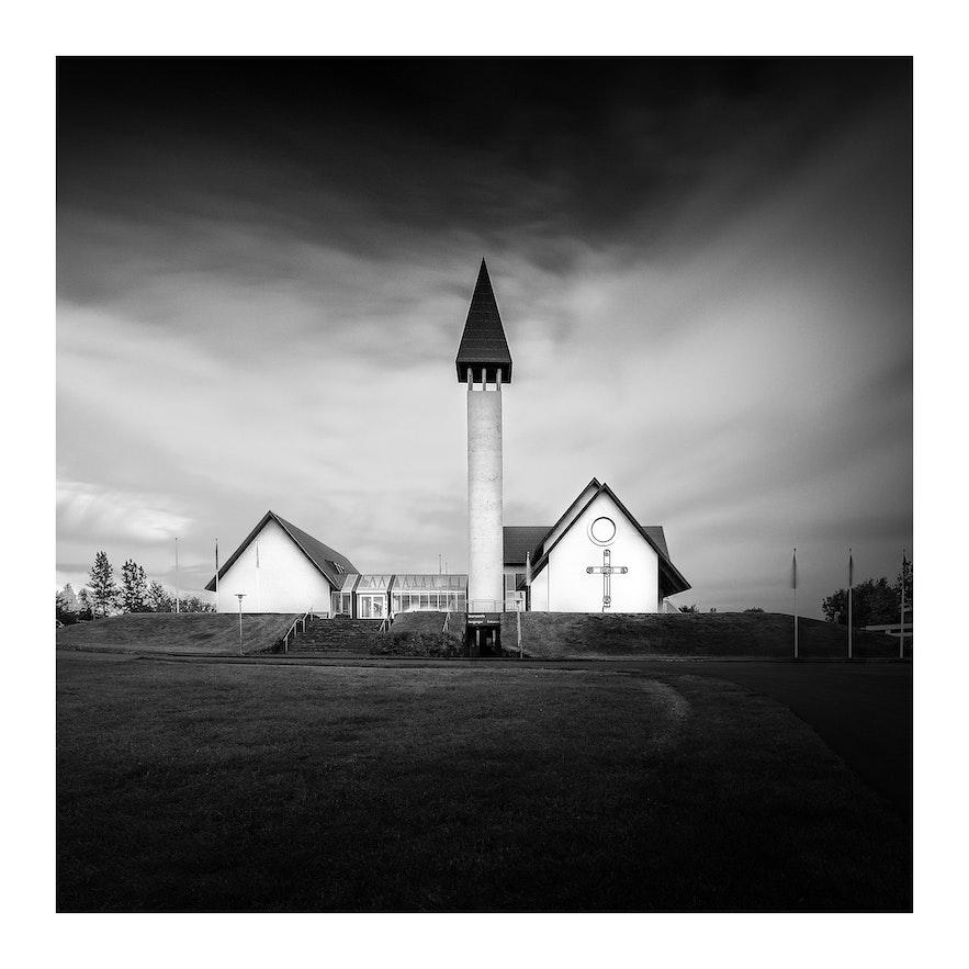 冰岛西部的雷克霍特教堂