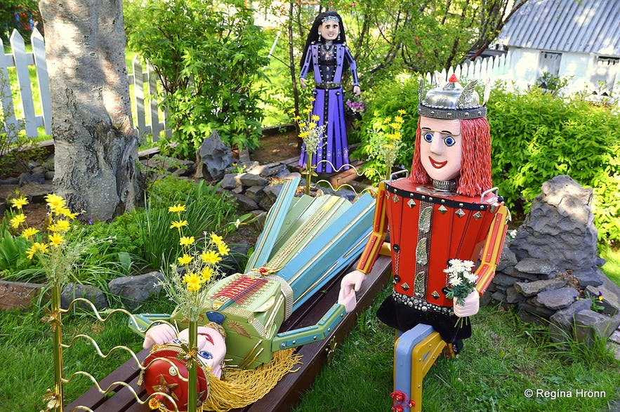 Wonderfully Colourful Fairytale Figures in Akureyri in North-Iceland