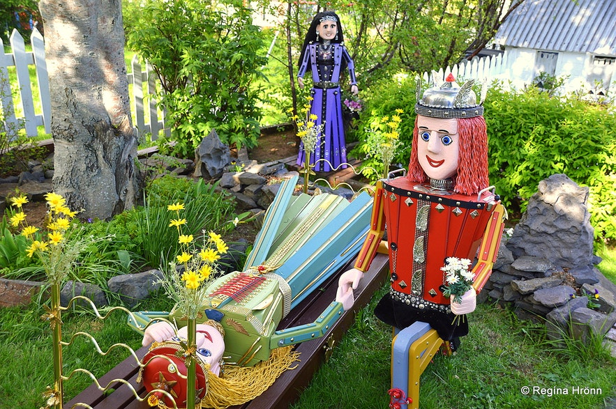 Colourful Fairytale Figures in Akureyri in North-Iceland