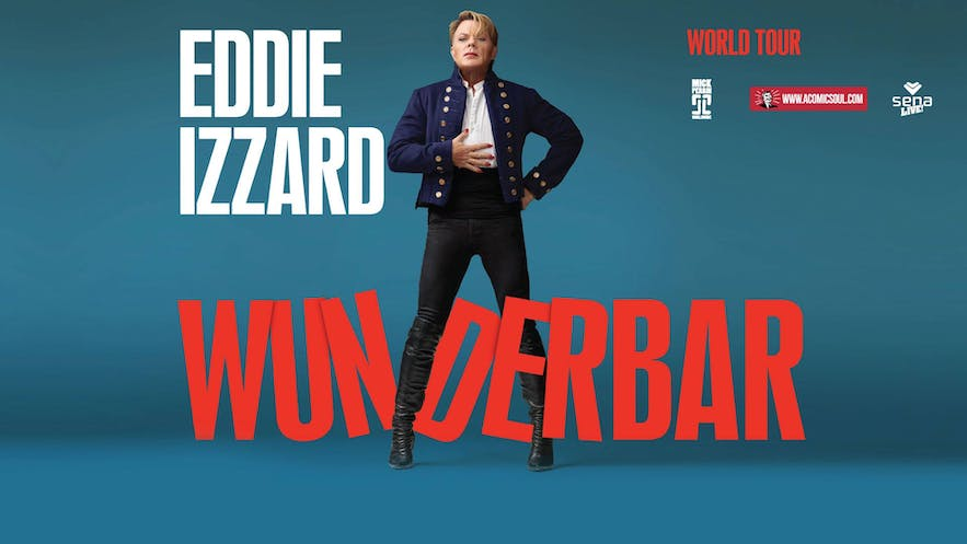 Eddie Izzard is among the international comedians who have performed in Iceland