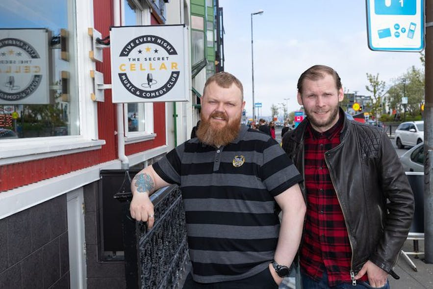 Bjarni and Unnar Helgi worked together to establish the first dedicated comedy venue in Iceland
