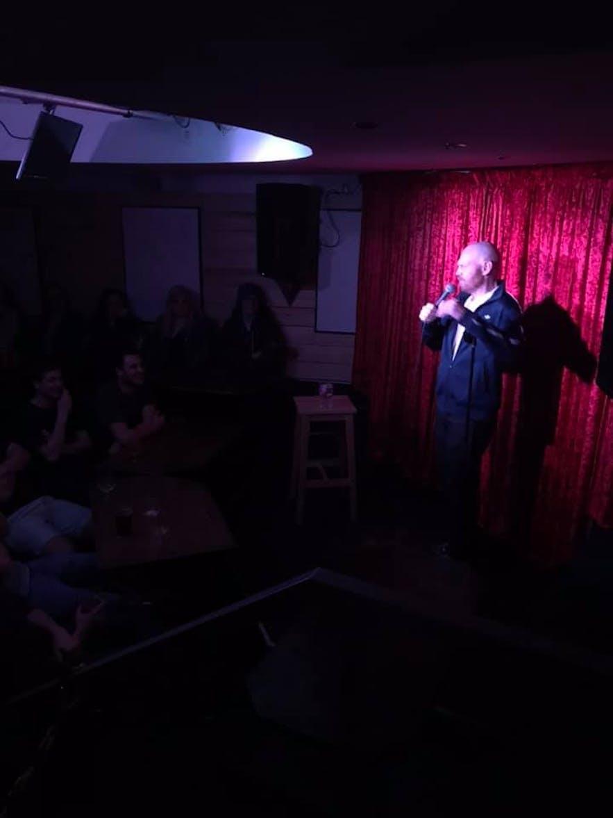Bill Burr performing at The Secret Cellar