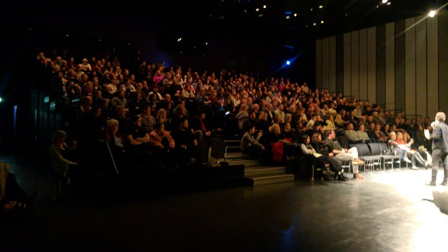 A full house at the Scotch on Ice comedy festival at Harpa in 2017