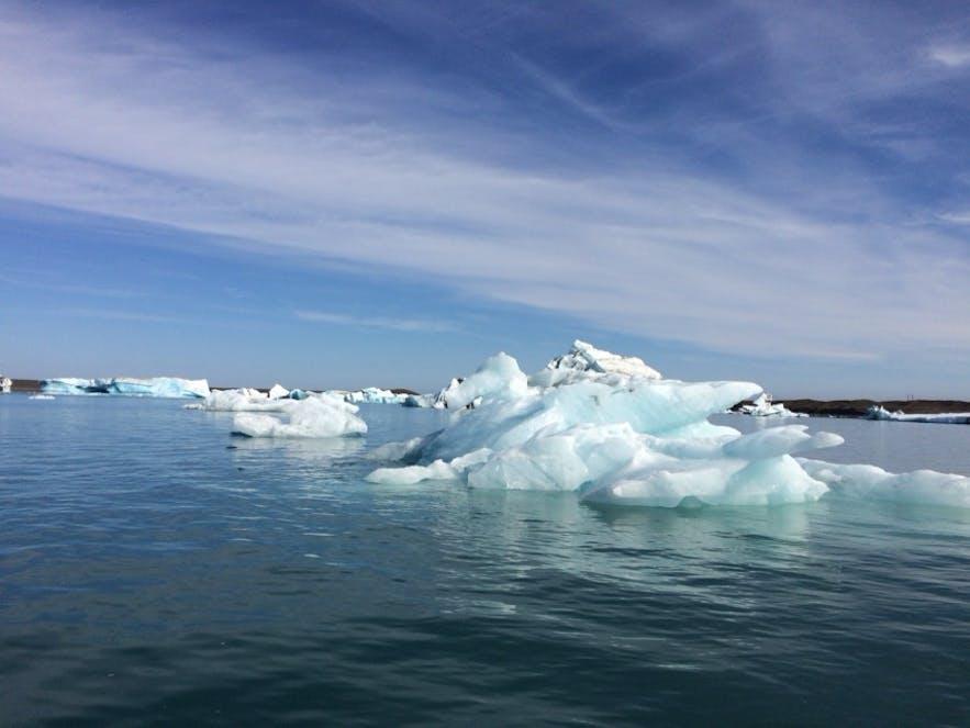 水陸両用ボートの上から撮った写真