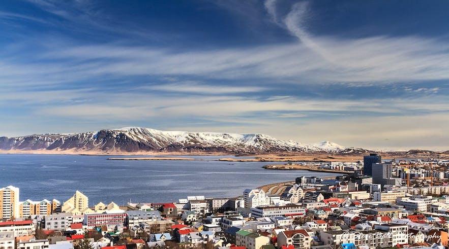 Reykjavik in the summer