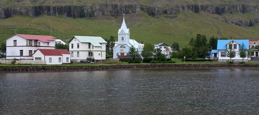 Seydisfjordur fjord in east Iceland