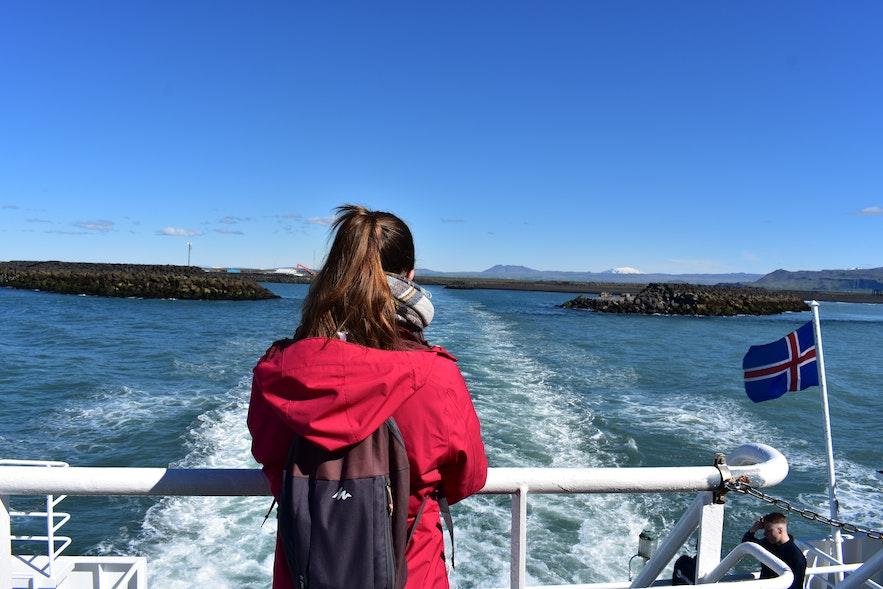 Die Überfahrt vom Süden Islands zu den Westmännerinseln.