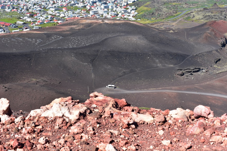 Wendekreis, bei dem Vulkan Eldfell auf den Westmännerinseln.