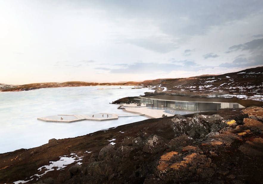 The Vök Baths are  geothermal spa in east Iceland.