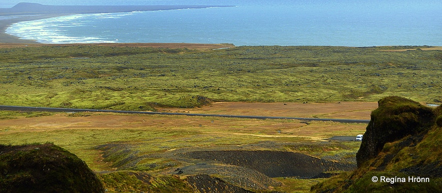 The view from Rauðfeldsgjá gorge Snæfellsnes