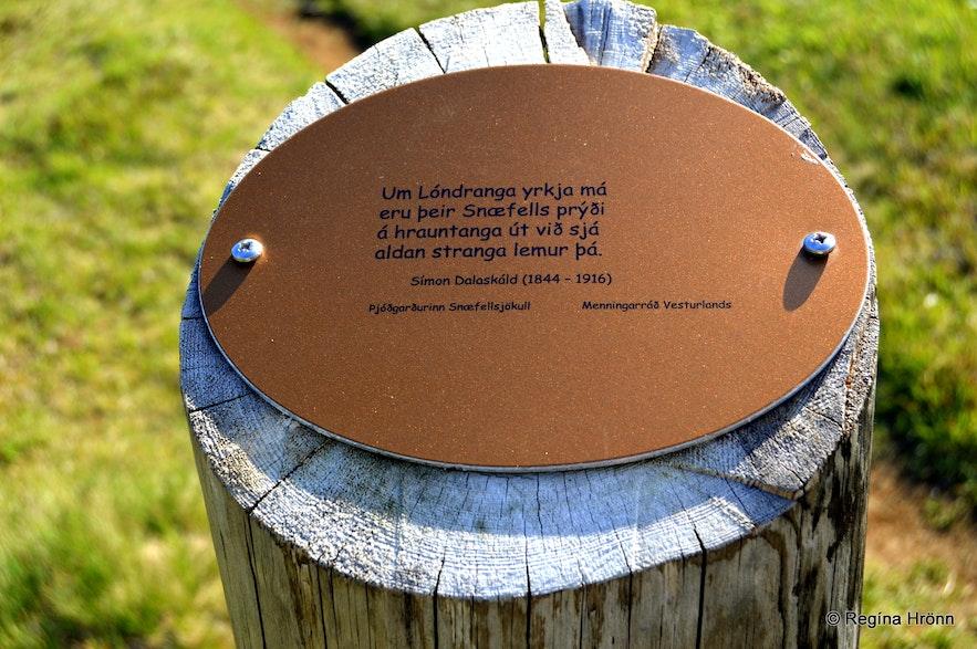 Poems on the hike to Lóndrangar cliffs Snæfellsnes