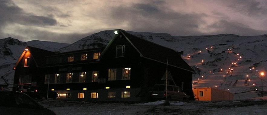 Wyciąg narciarski na Islandii.