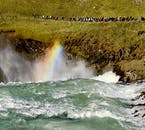 A view from the eastern side of Gullfoss is unique