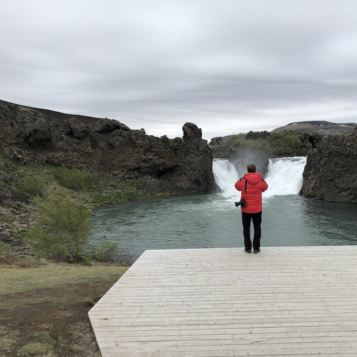 Hjálparfoss is the meeting point of two Icelandic rivers