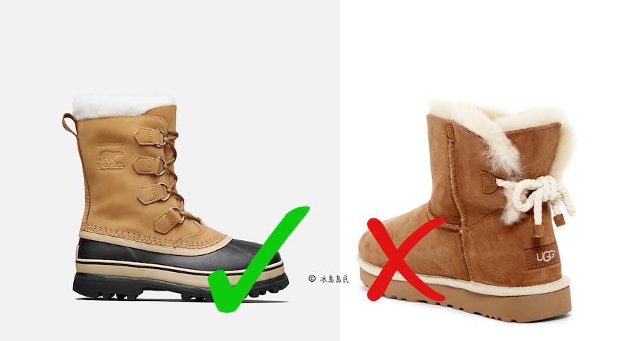在冰島可以穿UGG或者Sorel靴子旅行嗎