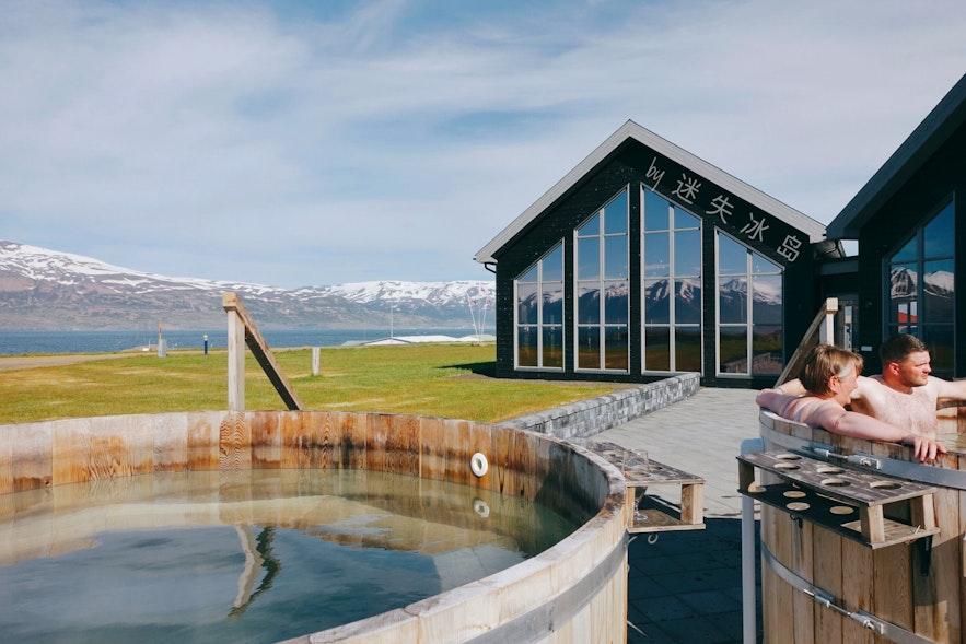北部冰岛的Kaldi酒厂室外温泉池