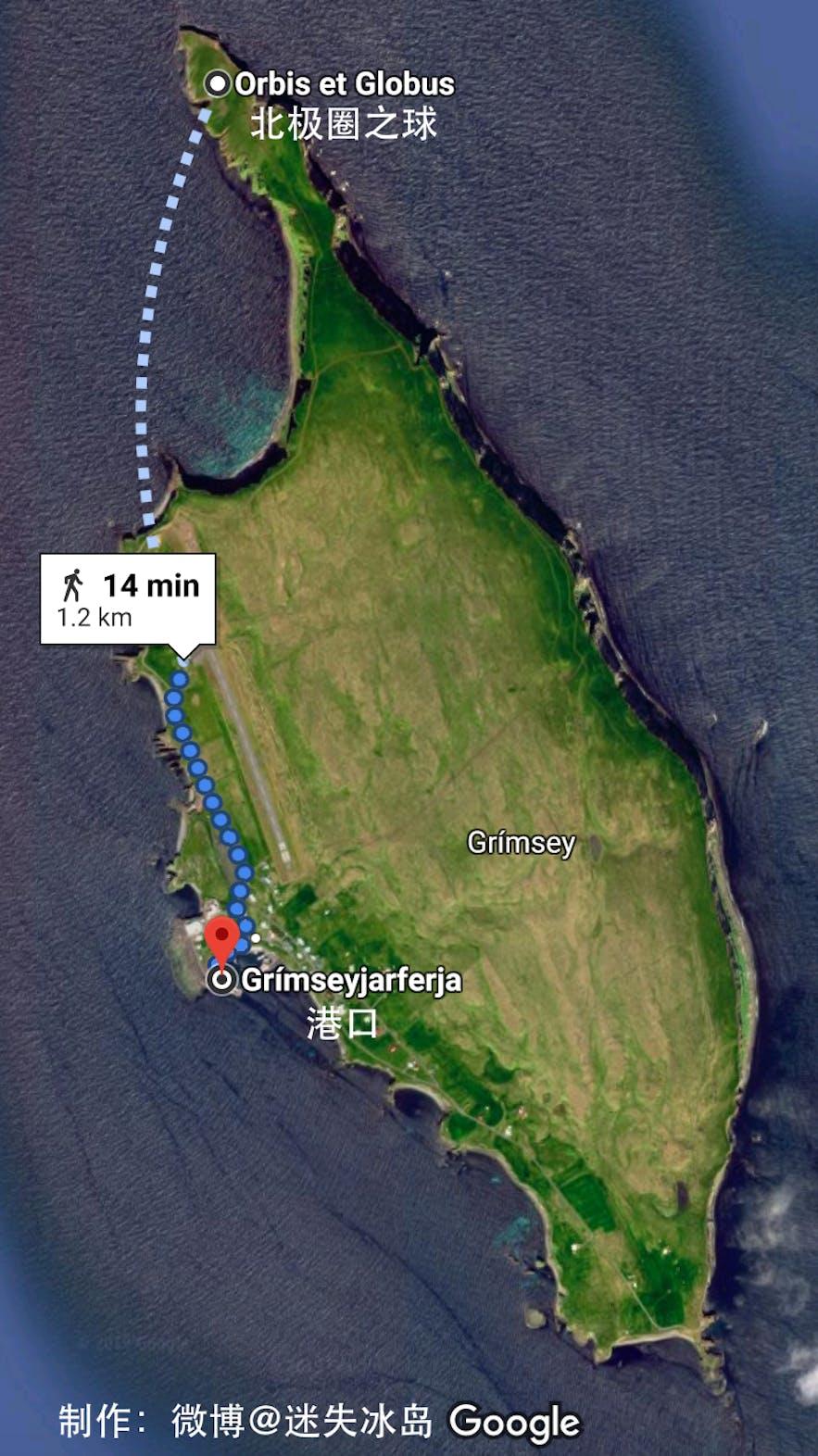 格里姆塞小岛地图