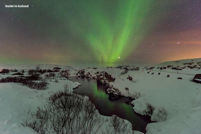 被苔藓覆盖的辛格维利尔国家公园(Þingvellir)是冰岛黄金圈三大旅游景点之一