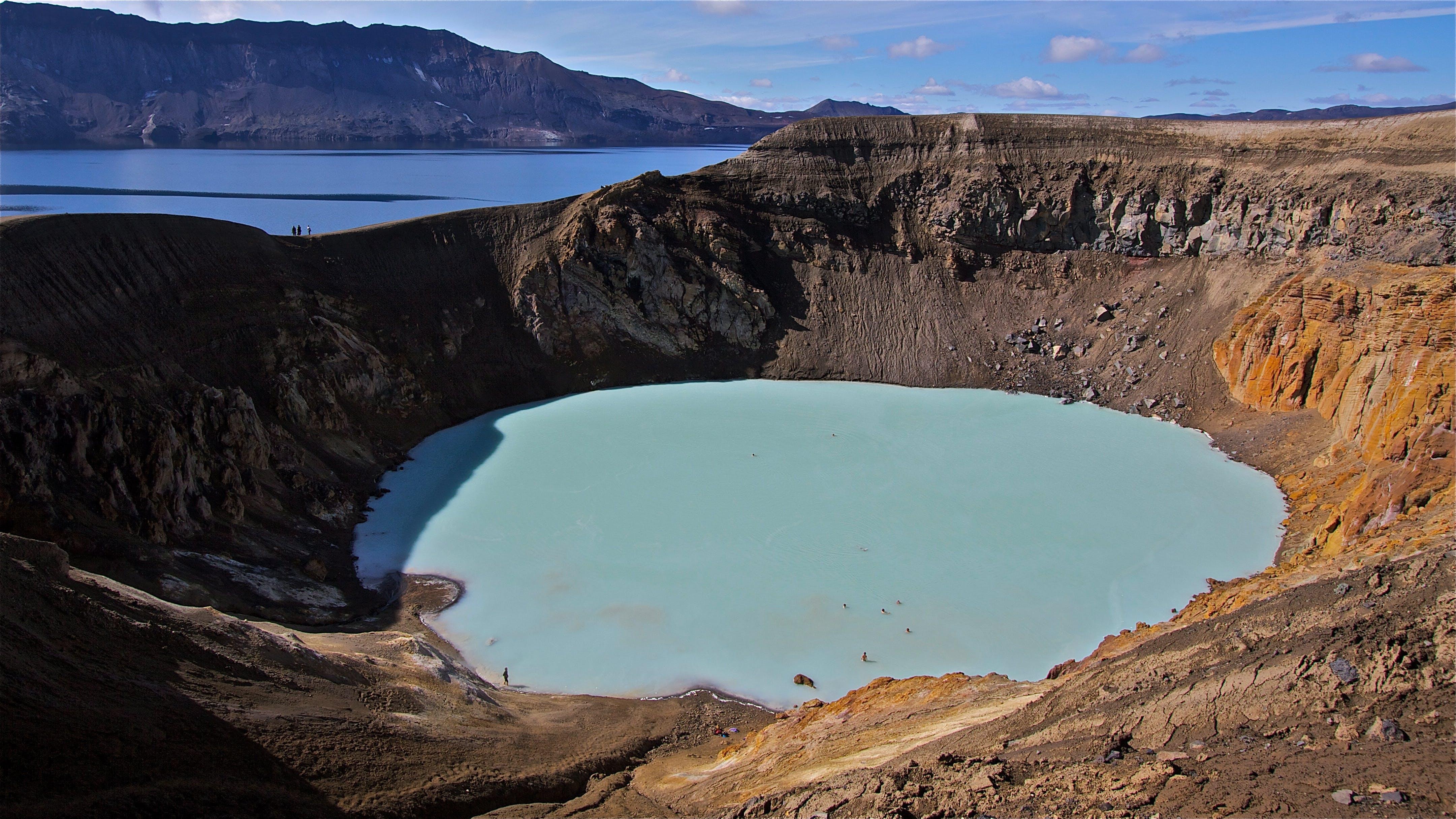 Víti hot spring in Askja by Henrik Thorburn from Wikimedia Commons