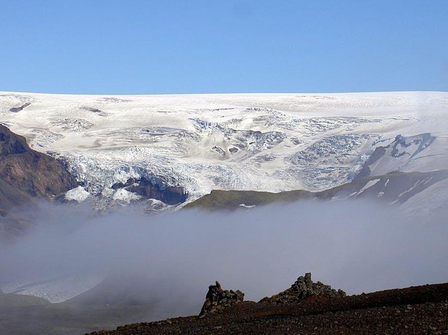 ธารน้ำแข็งมิร์ดาลสโจกุลในประเทศไอซ์แลนด์,โดย Chris 73 จาก Wikimedia Commons.