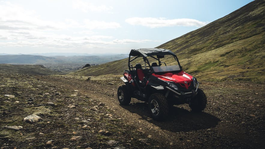 A buggy at the summit close to Reykjavík.