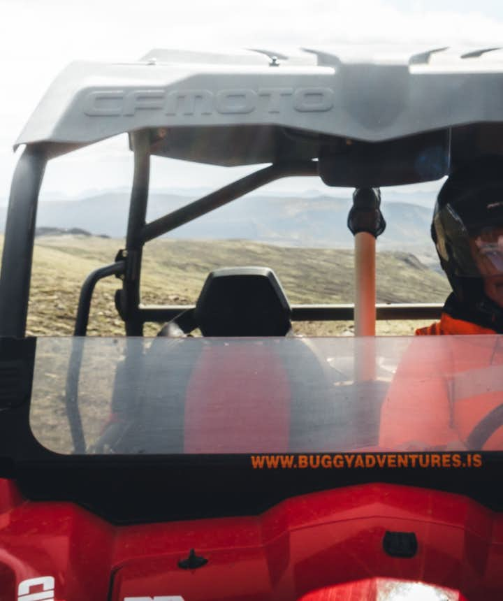 I'm having a great time on my buggy tour.