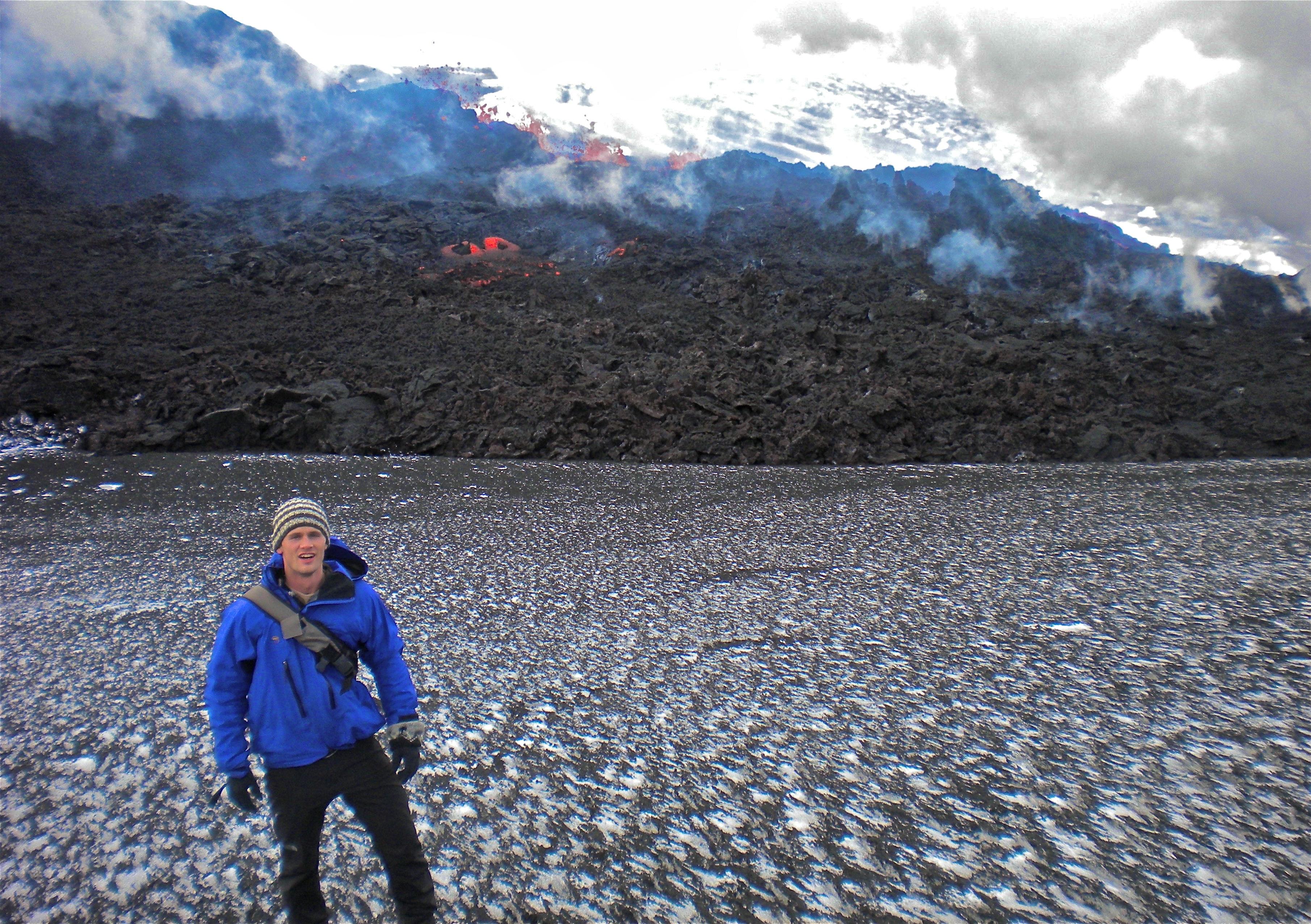 Siggi infront of Eyjafjallajokull