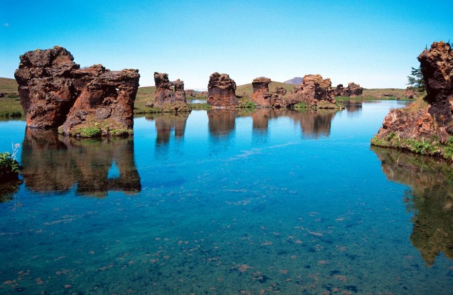 아이슬란드 북부의 미바튼 호수