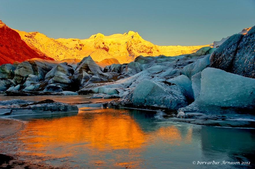Lodowiec Vatnajökull na Islandii.