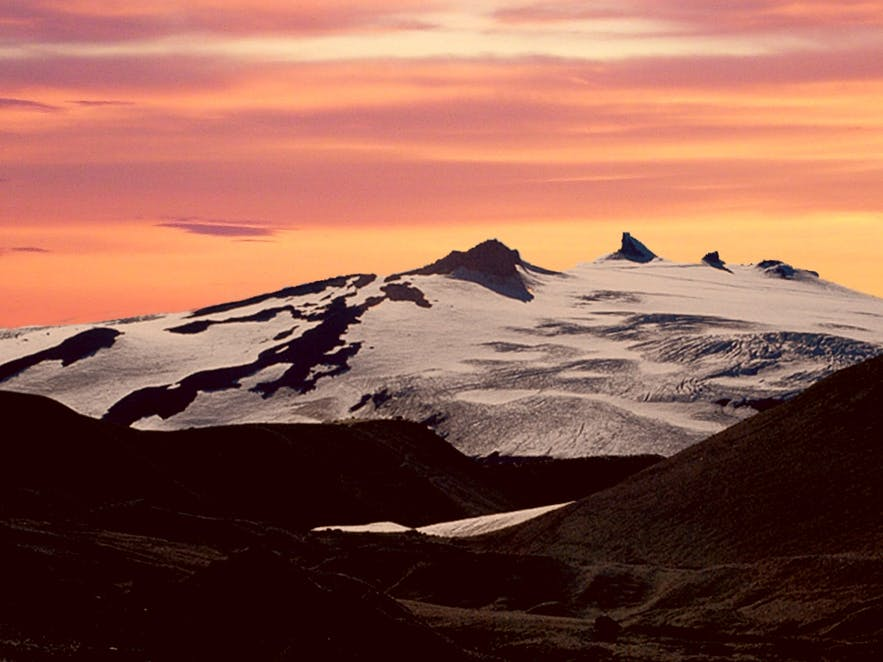 Snaefellsjokull glacier in Iceland, photo by Juhászlegeny from Wikimedia Commons