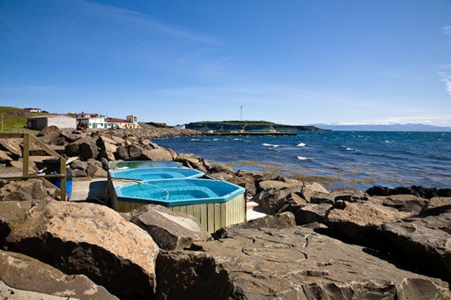 冰岛Drangsnes温泉泳池