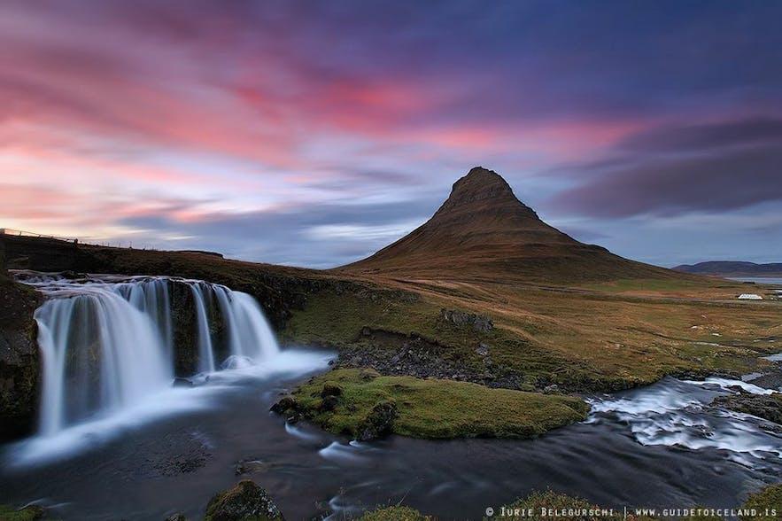 Mount Kirkjufell is in Snæfellsnes peninsula in West Iceland
