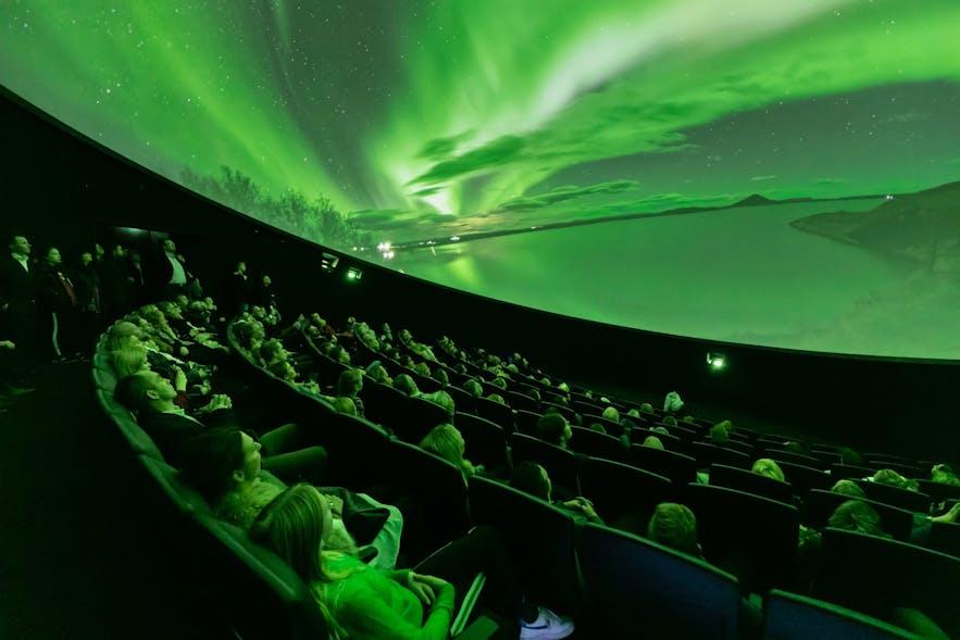 珍珠楼的天文馆给大家体验北极光