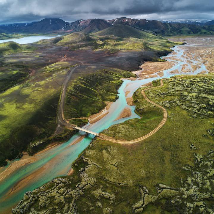Landmannalaugar is a stunning area in the Icelandic highlands