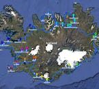 A map of the 10 Day Self Drive Tour of the top Ring Road Attractions & Snaefellsnes Peninsula