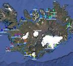Plan 9-dniowej wycieczki dookoła Islandii zakładającej również półwysep Snaefellsnes.