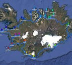 The map of the itinerary of this 9 Day Self Drive Tour of the Circle of Iceland, including the Snaefellsnes Peninsula