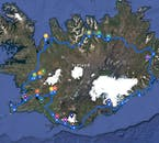 The itinerary for the 10 Day Winter Self Drive Tour of The Circle of Iceland