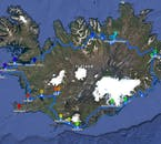 The itinerary of the 14 Day Winter Self Drive going Clockwise Around the Ring Road with Snaefellsnes Peninsula