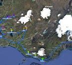 El itinerario para el viaje a tu aire de 8 días de invierno, donde tendrás la oportunidad de ver la aurora boreal y visitar las cuevas de hielo