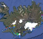 Itinerary map for the 6 Day Summer Package with a Guided Tour from Reykjavik to the Eastfjords