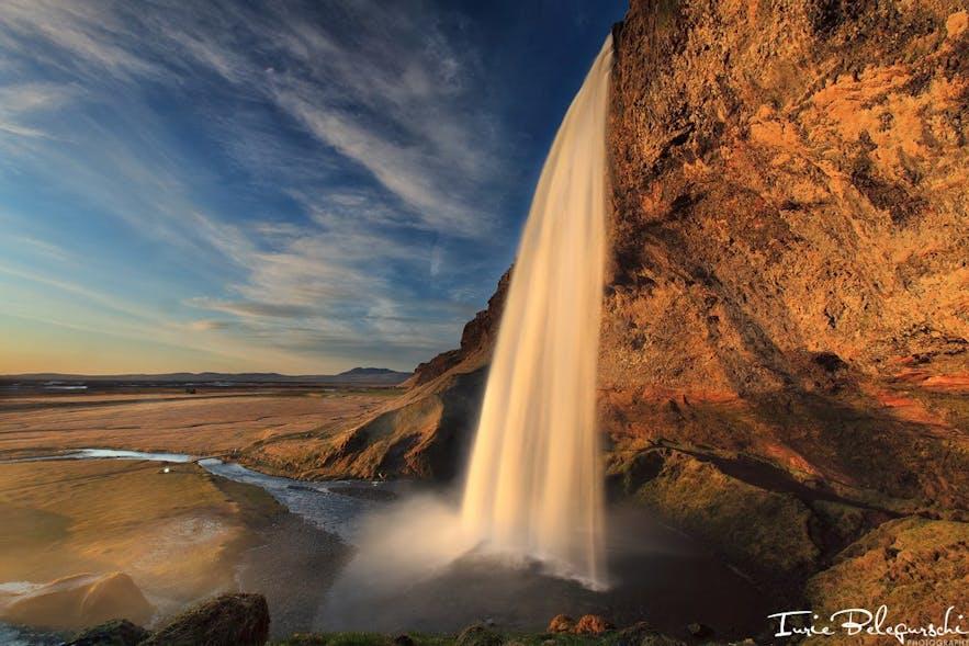 南海岸にあるセリャランスフォスの滝