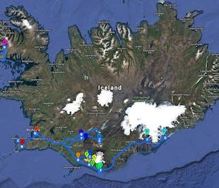 8日間サマーパッケージ | 南海岸、ウェストフィヨルドの秘境、ハイランド大自然