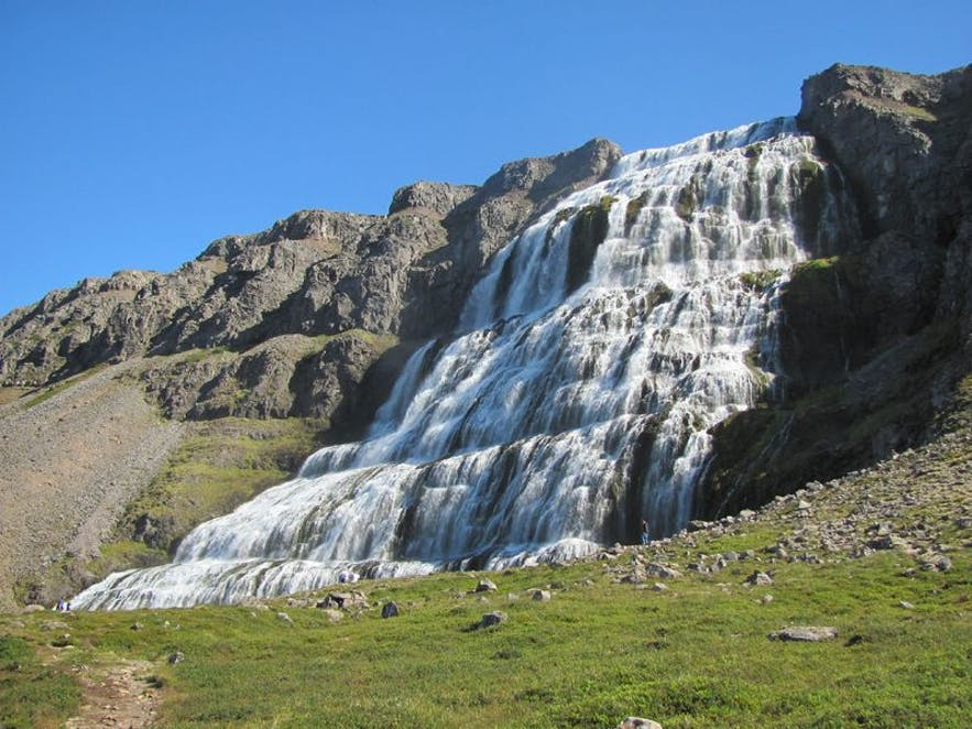 Dynjandi waterfalls in Iceland, Photo from Wikimedia Commons by Reinhard Dietrich