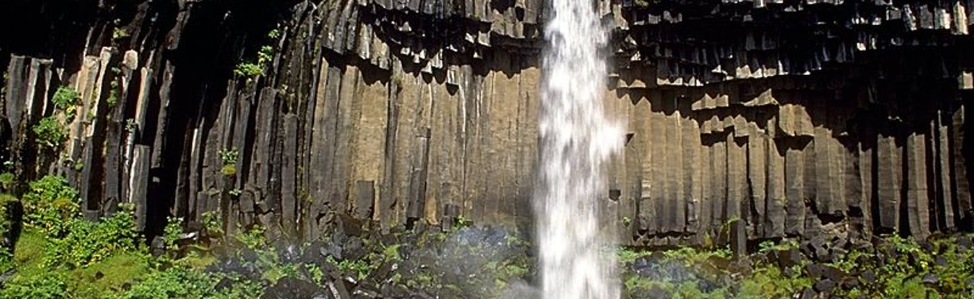 Svartifoss waterfall in Iceland, Photo from Wikimedia Commons - Andreas Tille