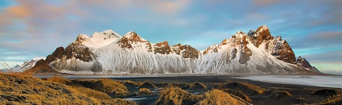 Vestrahorn is a beautiful mountain in Iceland