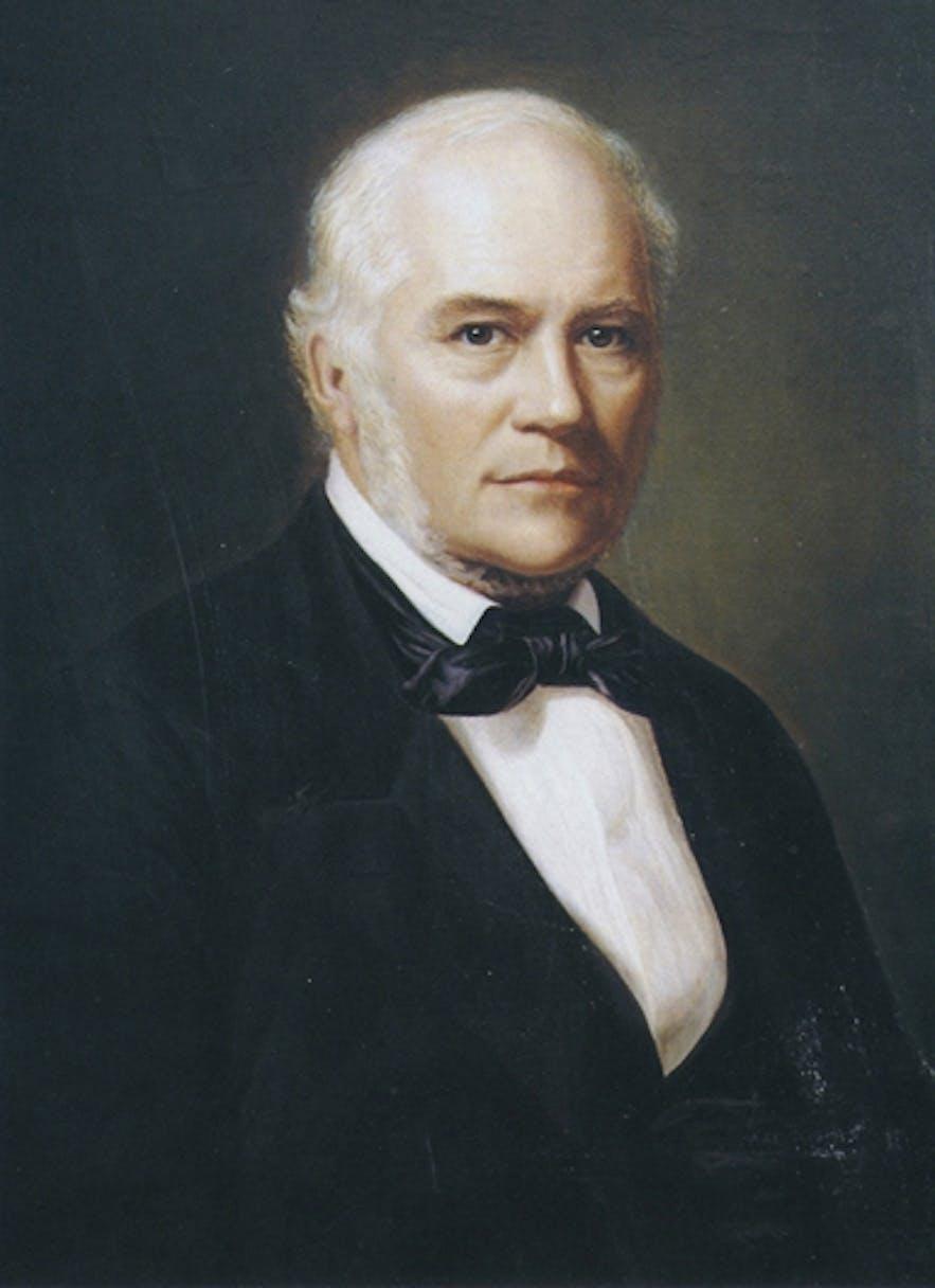 Founder of Iceland, Jon Sigurdsson, portrait by Þórarinn B. Þorláksson