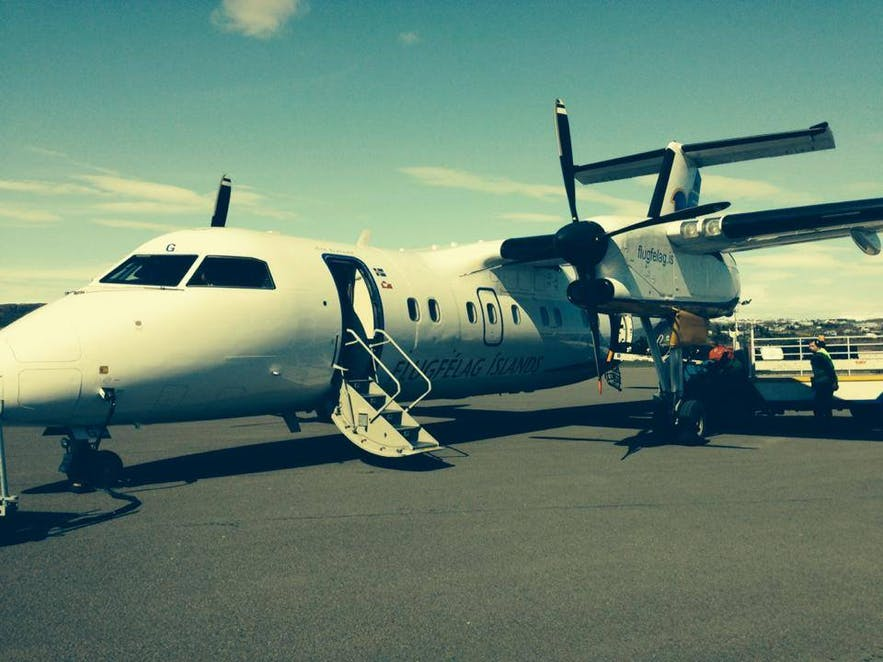 An image of one of Air Iceland Connect's planes on the tarmac at Reykjavík Domestic Airport.