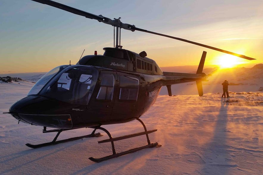 A Helicopter tour is a unique and memorable way to see the incredible landscape of Iceland