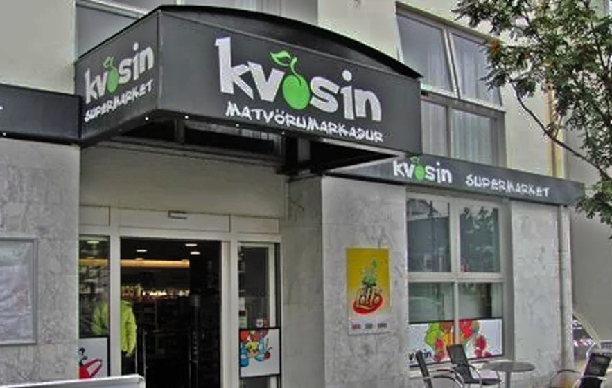 Kvosin is an expensive but convenient supermarket in Iceland.